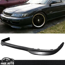 Fit For 94-95 Honda Accord JDM T-R Style Front Bumper Lip Spoiler Black PU