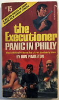Mack Bolan Executioner 15 Panic in Philly Don Pendleton 1973 Pinnacle 1st PB