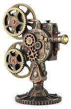 "Steampunk Movie Projector 9.70"" Cold Cast Bronze Statue"