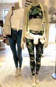 NEW Free People Stone Fox Lysa Tropical Printed Leggings & Sports Bra Set S XS