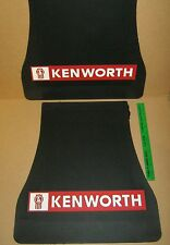 "NEW KENWORTH LOGO BLACK MUDFLAP 20"" HIGH x 13"" WIDE AT TOP - SOLD INDIVIDUALLY"