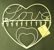 Love Heart Jewellery Rack 11 Hooks Wall Tidy Store Chic Girl - Christmas Gift