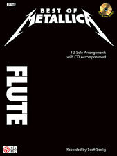 Best of Metallica Flute Solo Sheet Music 12 Rock Songs Play-Along Book CD NEW