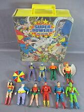 DC Super Powers Lot HAWKMAN AQUAMAN SUPERMAN JOKER BATMAN + Carrying case 1984
