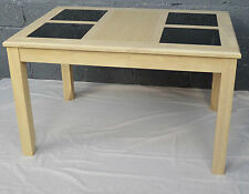 Quality Solid Wood With Black Glass  Dinning Table 120x 80 cm