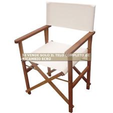 Telo completo di ricambio color ecrù per sedia poltrone regista in legno meranti