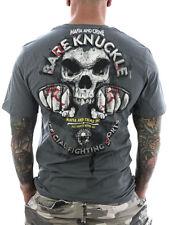 Mafia & Crime T-Shirt Bare Knuckle 510 grau Neu Männer - Herren Shirt gR XL