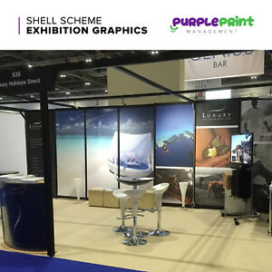 Shell Scheme Exhibition Display Graphics - Trade Show Panels Wall Panel Graphic
