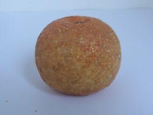 Vintage  Marble Stone Fruit Orange with wood stem
