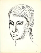 POINTY EAR ELF PORTRAIT Vintage ART Drawing MID-CENTURY MODERN Painting / Eames
