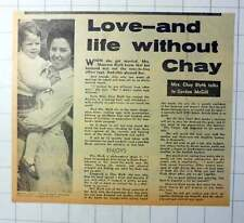 1970 Chat With Mrs Maureen Blyth On Love And Life Without Chay