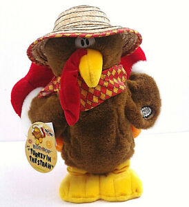 """Dan Dee Hop And Bop Animated 12"""" Thanksgiving Sing Turkey In The Straw"""
