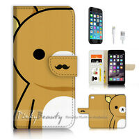 ( For iPhone 6 / 6S ) Wallet Case Cover P3532 Bear