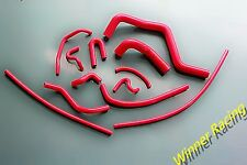HONDA ACURA INTEGRA GS/LS/RS B18B1 DB7 SILICONE WATER&OIL HOSE KIT 94-01 RED