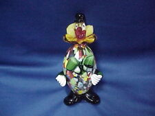 """MURANO Pitau Confetti Clown with Round Belly Labeled 7"""" ART GLASS"""