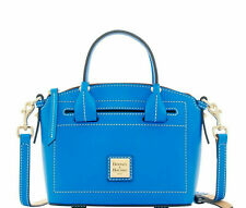 NWT DOONEY & BOURKE BEACON MINI DOMED LEATHER SATCHEL PURSE ROYAL BLUE NEW $238