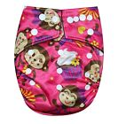 SEE DIAPERS BAMBOO CHARCOAL ONE SIZE BABY CLOTH DIAPER W/ 2 BAMBOO INSERTS NEW
