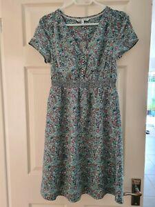 Fat Face Womens Pretty Short Sleeved Lined Summer Dress