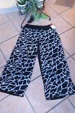Magna marlene pantalones con gasa-edredon 44 46 nuevo! negro blanco Print Lagenlook