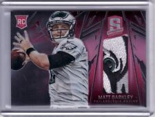 2013 Spectra Rookie Materials Red #226 Matt Barkley 13/25 Logo Jersey Patch RC