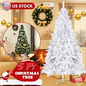 5Ft Christmas Tree Artificial PVC Xmas Tree Holiday Season Home Outdoor W/ Stand