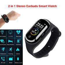 M1 pro 2 in 1 TWS Stereo Earbuds Smart Watch Wristband Bluetooth Tracker Fitness