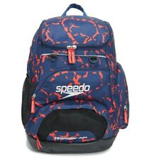 Speedo Printed 35L Teamster Backpack blue and red