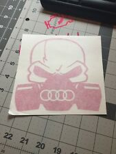 Audi Biohazard Skull Mask Vinyl Decal Sticker