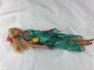 BARBIE - BLONDE HAIR - BEAUTIFUL BLUE HALTER DRESS - NO SHOES