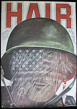 HAIR * Orig. 1980 Polish Film Poster * Milos Forman JOHN SAVAGE Pagowski art FN