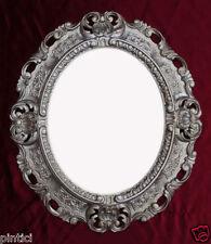 BILDERRAHMEN Silber Antik Oval Fotorahmen barock Jugendstil 45X37 Antiksilber  A