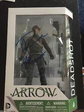 CW Arrow DC Collectibles Michael Rowe Deadshot Autographed Signed Figure COA