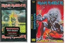 Iron MaidenSet of 2 Brand New Cassettes - Self Titled and A Real Live One NEW