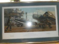 More details for framed gil cohen requiem for torpedo eight ww2 aviation print