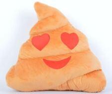 New Emoji Cushion Poo Shape Heart Eyes Pillow Stuffed Doll Toys Gifts - C