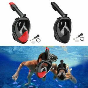 Tauchermaske Snorkel Swim Goggle FullFace Schnorcheln Anti Fog Für GoPro Neu NEW