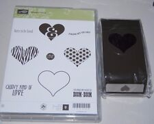 Stampin' Up Lot - Groovy Love Hearts With Matching Sweetheart Punch - NIP!