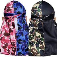 ⚠️ Buy 2 Get 1 Free 🌊 Designer Durag Wave Cap Silky Rag Turban Many more styles