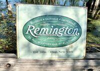 Remington Weathered Logo Vintage Metal Tin Sign Wall Decor Garage Man Cave Home