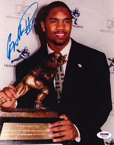CHARLES WOODSON RP SIGNED PHOTO MICHIGAN WOLVERINES HEISMAN TROPHY ACCEPTANCE