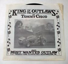 King Of The Outlaws & Most Wanted Outlaw by Tommy Cisco 45 RPM NOS New Old Stock