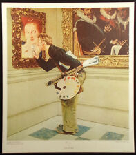"""Norman Rockwell """"The Critic"""" Vintage Collotype Art Print Art History Museum OBO"""