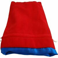 6In X 8In Large Red Velvet Dice Bag With Blue Satin Lining (US IMPORT) ACC NEW