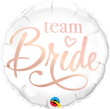 Rose Gold Team Bride Bridal Shower Hen Party Round Foil Balloon 18 inches