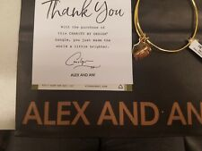 Alex and Ani UGLY SWEATER Shiny Gold Charm Bangle Bracelet New W/ Tag Card & Bag
