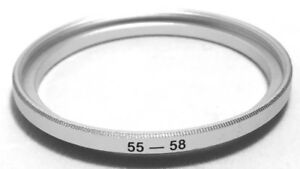 Filter und Objektiv Adapter Ring 55mm step-up 58mm, 55mm-58mm