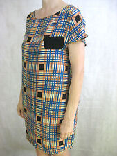 Anna & Boy Plaid Silk Size 3 (12) Designer Dress