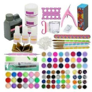 Professional Manicure Nail Art DIY Set Acrylic Powder C6X0 Kit Glitter Nail O3M5