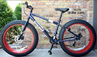 Fat Tire Mountain Bike 7-Speed Shimano Drivetrain & 26-Inch Wheels Red