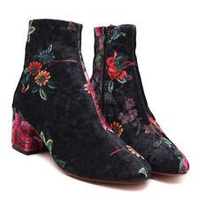 Women's Trendy Fall/Winter 2017 Velvety Flower Print Ankle Boots Fr Shp Sz 8.5